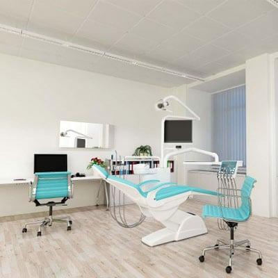 Studio dentistico riscaldato con pannelli radianti a soffitto